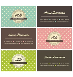retro business cards vector image
