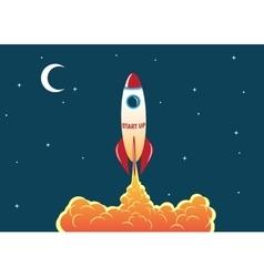 Rocket soars into the sky vector