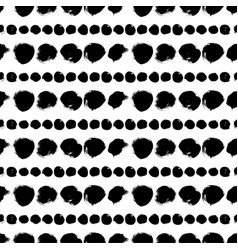 seamless black and white pattern with circles vector image