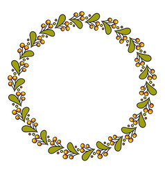 simple round colorful floral vector image