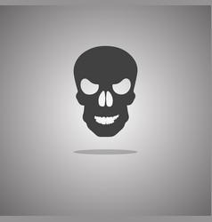 Skull halloween isolated vector