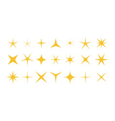 sparkle stars shiny twinkle and bright stars vector image