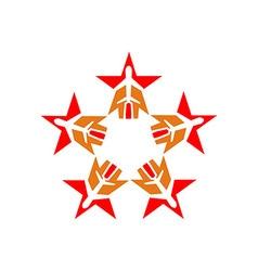 Star plane logo aviation flying vector