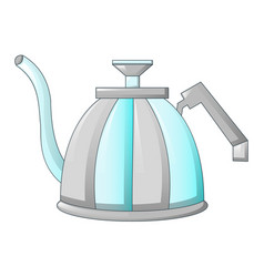 steel tea pot icon cartoon style vector image