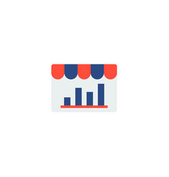 store analytics icon flat element vector image