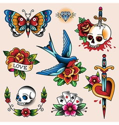 Tattoo collection vector