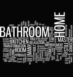 the bathroom the forgotten area of your home text vector image