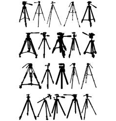 Tripod silhouettes vector