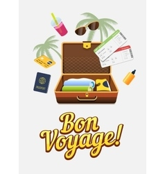 Vaction trip to other countries Travel to world vector image