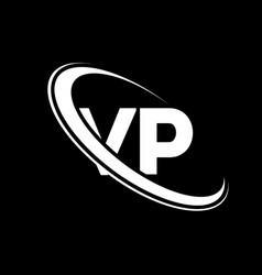 Vp logo v p design white vp letter vpv p letter vector