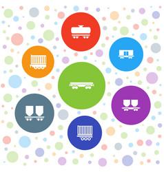 Wagon icons vector