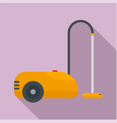Wash vacuum cleaner icon flat style vector