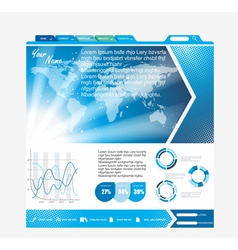 Web page layout design vector