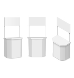 White empty stand or promotion counter vector image