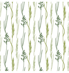 Wildflowers seamless pattern background eco print vector