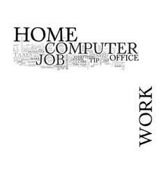 work at home computer jobs text word cloud concept vector image