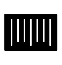 barcode silhouette icon 48x48 minimal pictogram vector image vector image