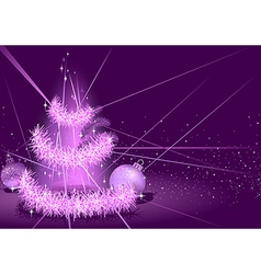 Purple Christmas Background vector image