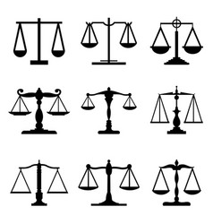 vintage mechanical balance scale judge icon vector image