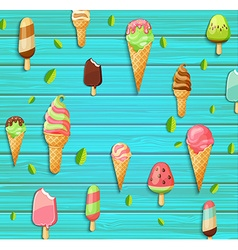 Colorful pattern made of ice cream vector image vector image