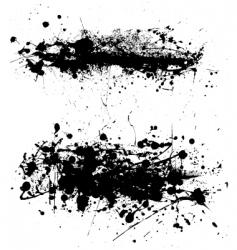 grunge splatter vector image vector image