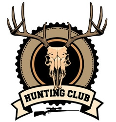 hunting club design vector image