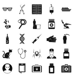 physician icons set simple style vector image vector image