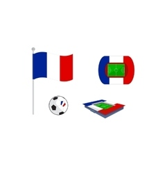 set of icon for europe football vector image vector image
