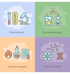 Chemical laboratory concept with instrumentation vector image vector image