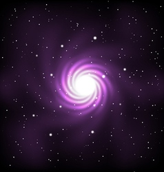 space with stars and galaxy vector image