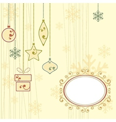 Winter background with christmas ornaments vector image vector image
