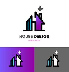 Abstract house logo design template Modern design vector image