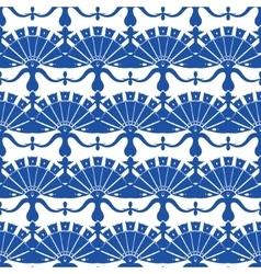 Royal blue turskish floral abstract vector
