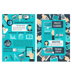 web analytic infographic design vector image