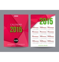 2015 calendar template brochure geometric design vector image