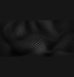 abstract wavy halftone dots background vector image