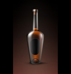 Alcohol glass bottle vector