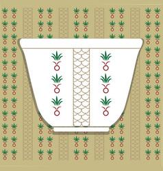 Arabic coffee cup cultural design vector