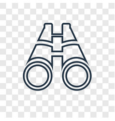 big binoculars concept linear icon isolated on vector image
