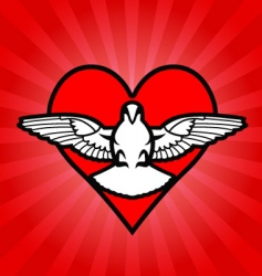 Bird heart background vector