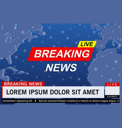 breaking news live vector image