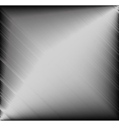 Brushed metal plate vector