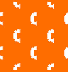 C joint pipe pattern seamless vector