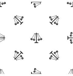 Carnival swing ride pattern seamless black vector