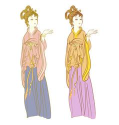chinese women vector image