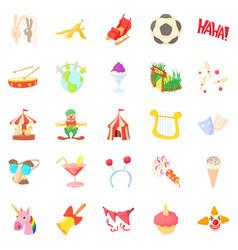 Comfort icons set cartoon style vector