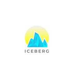 cool iceberg peak logo design template vector image