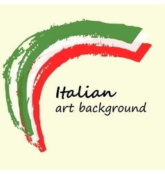 Creative background in the Italian colors Italy vector