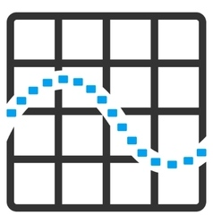 Dotted Function Chart Icon vector