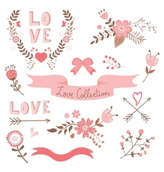 Elegant love collection vector image